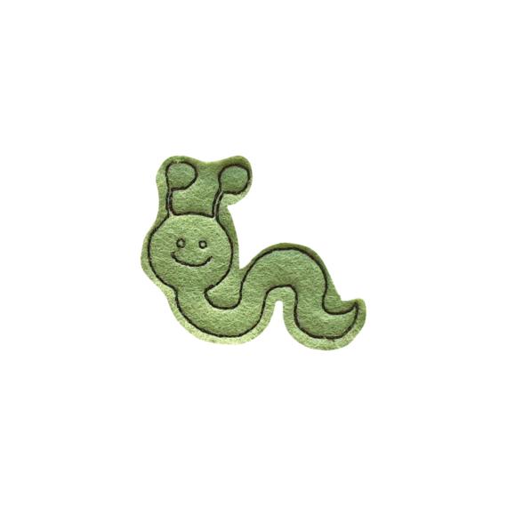 Zöld kukac mágnesfigura